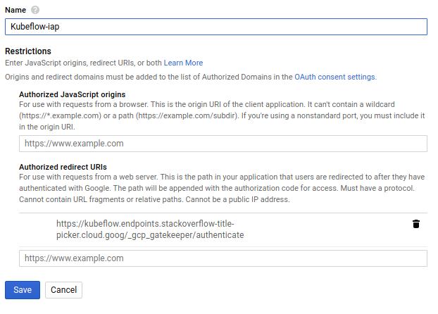 Kubernetes Engine for Kubeflow Quickstart Guide - Proposed