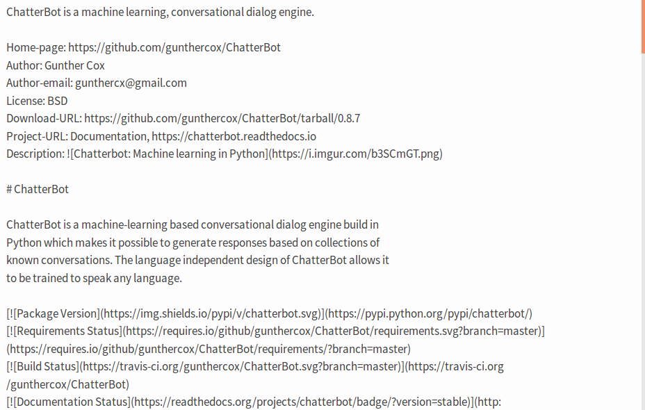Plain Markdown text on Python Package Index · Issue #1428