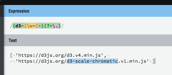 improving the regex that we use to detect d3 modules · Issue