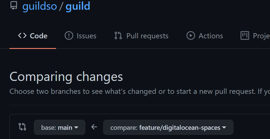 Git Pull Request Compare