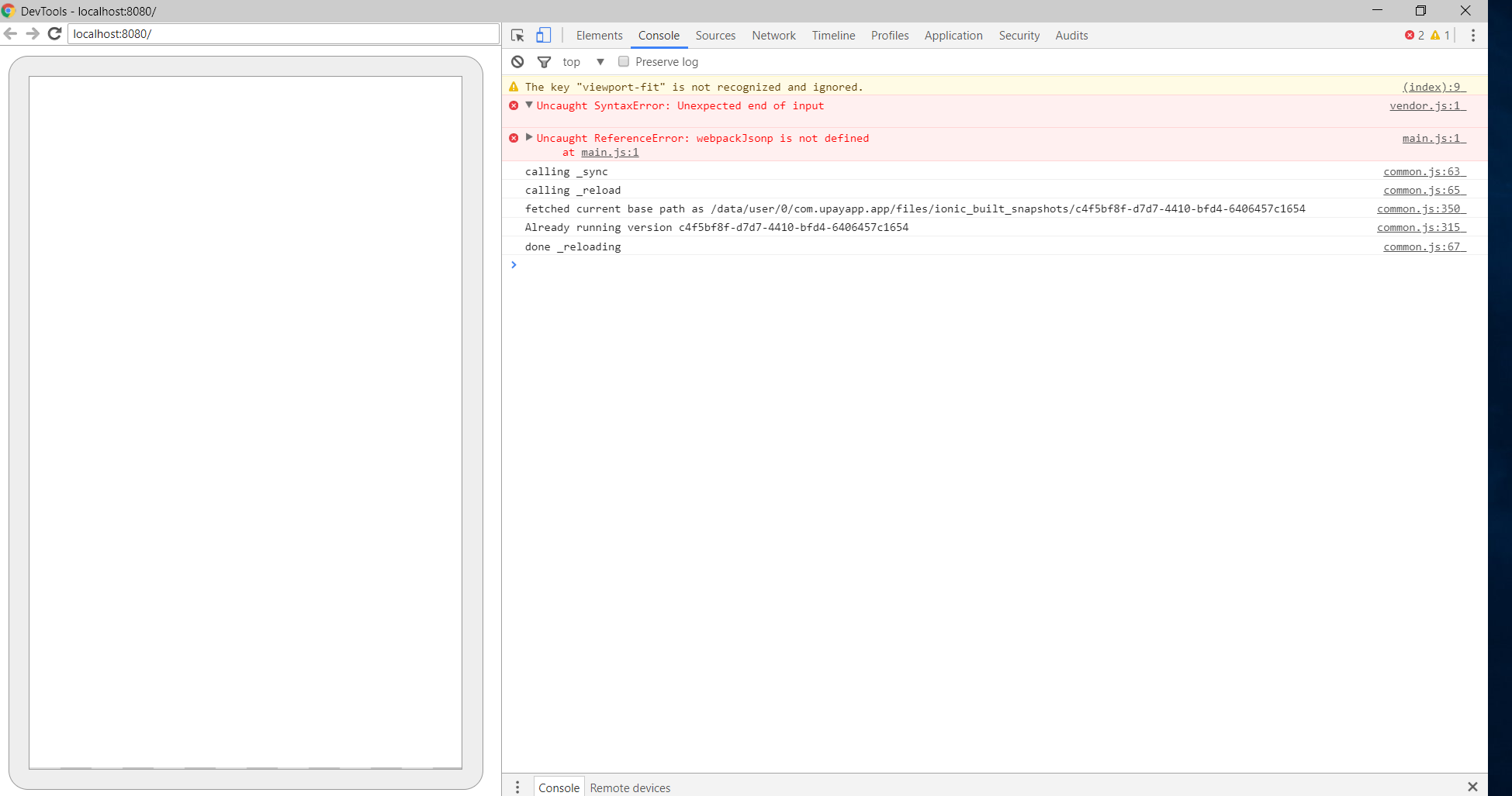 Blank Screen after Update · Issue #121 · ionic-team/cordova