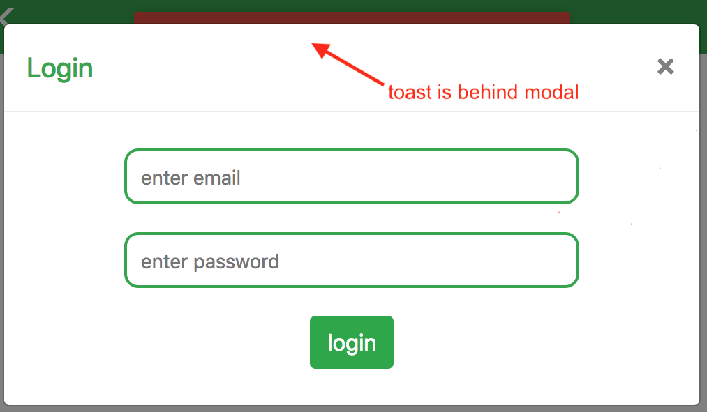 Toast shows behind modal · Issue #139 · fkhadra/react