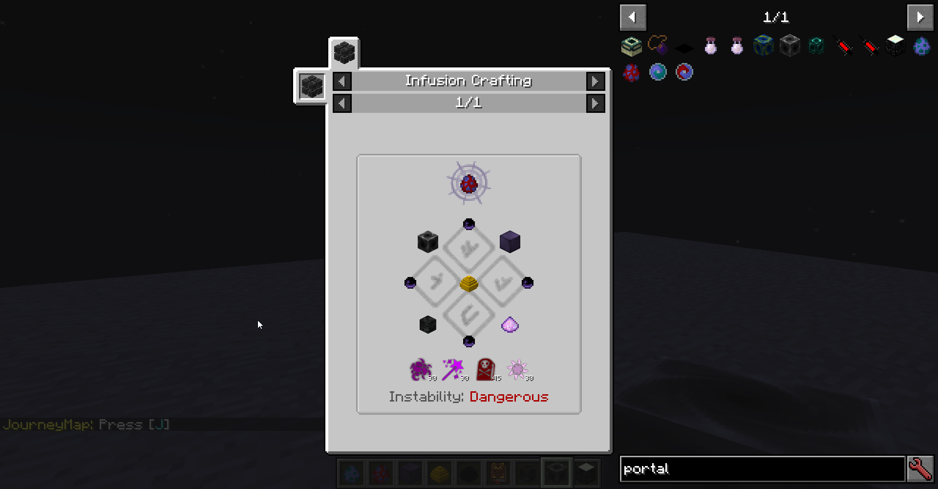 Unable to Unlock Eldritch Tab/Craft Void Metal Ingot · Issue #285