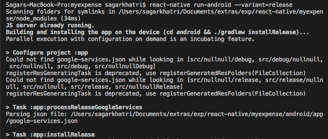 Android APP crash on release mode · Issue #45 · invertase/react