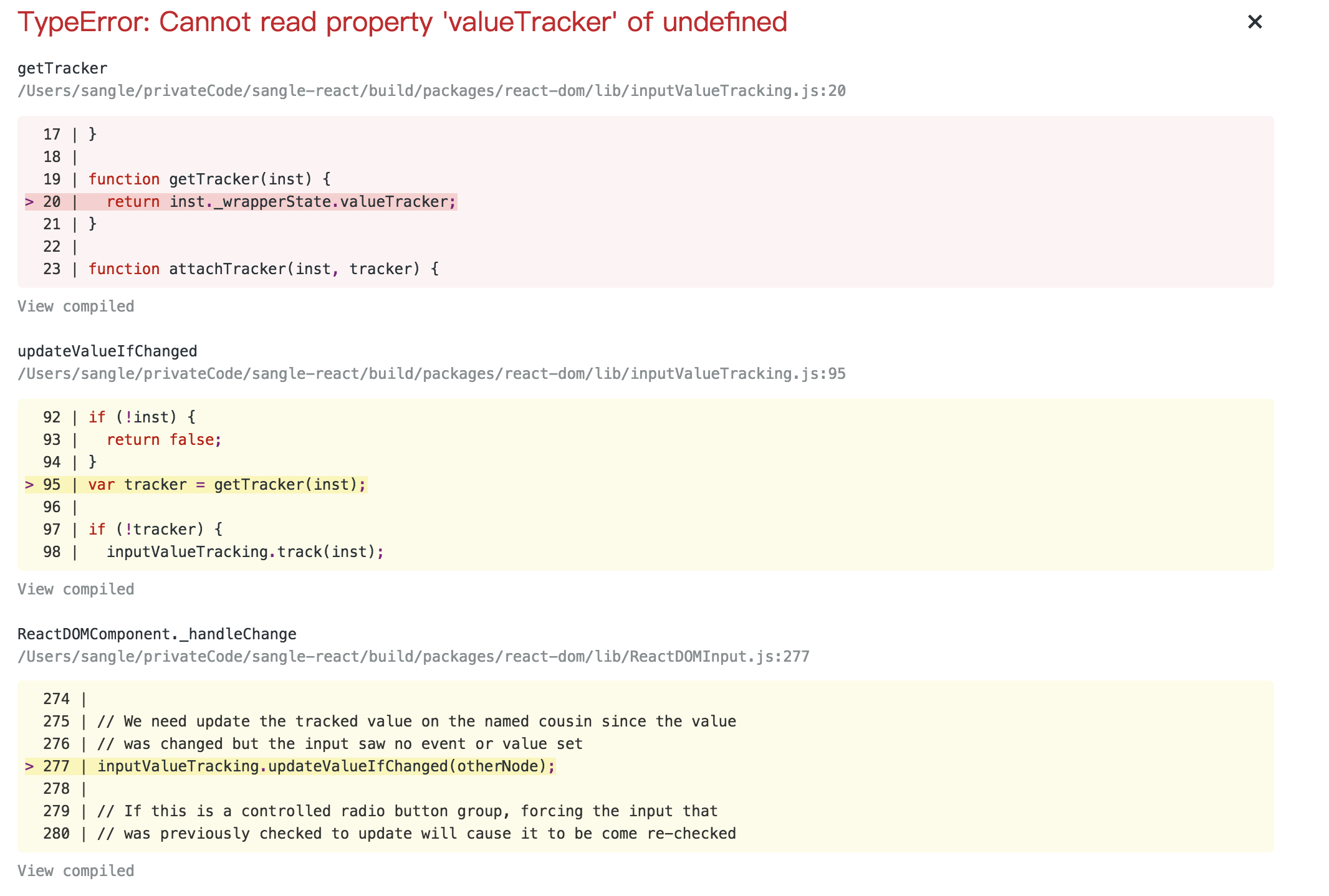 TypeError: Cannot read property 'valueTracker' of undefined · Issue