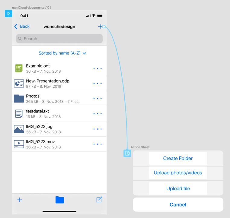 UX] Navigationbar Button for Uploading · Issue #198