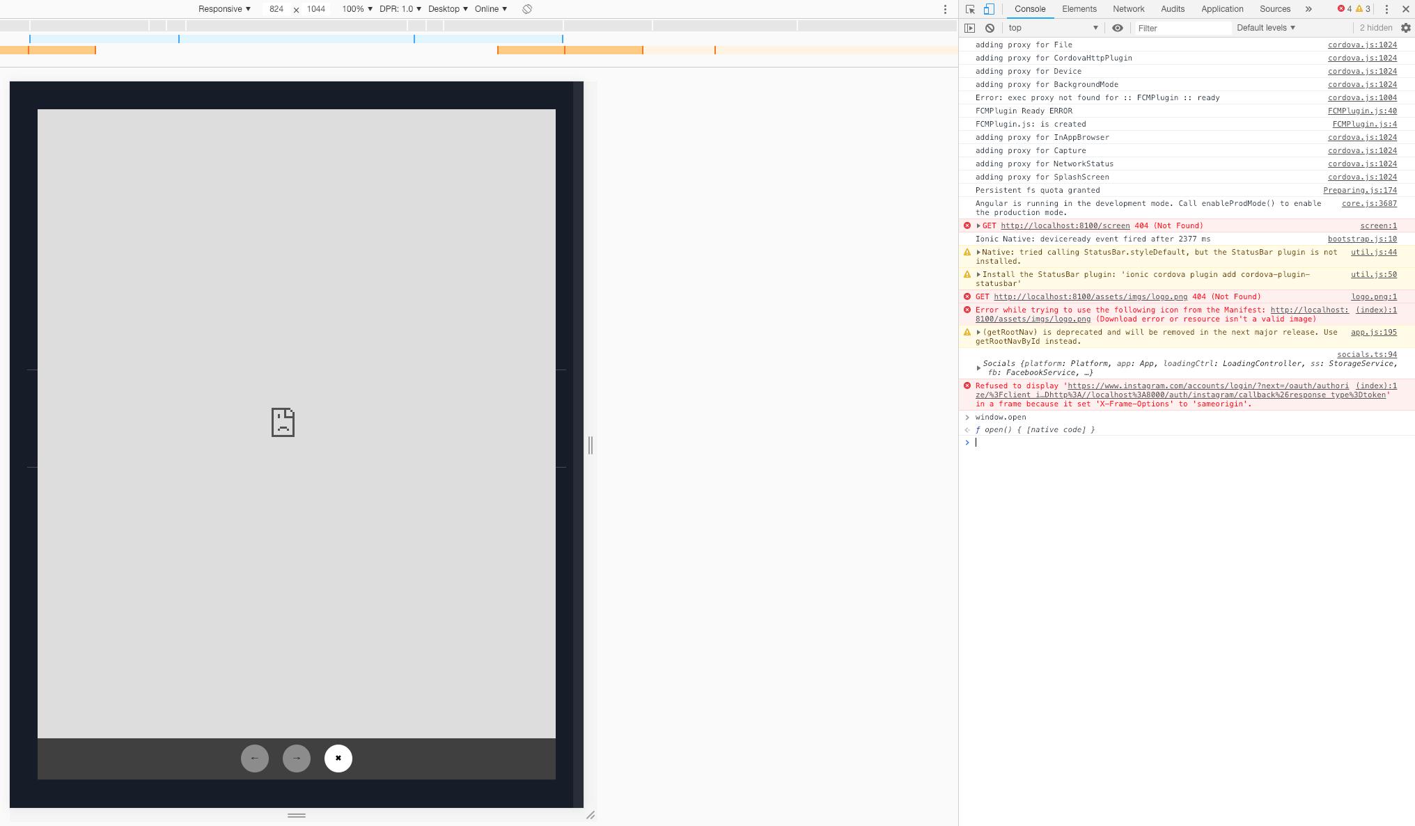 Refused To Display In A Frame Because It Set X Frame Options To Sameorigin Issue 548 Eddyverbruggen Cordova Plugin Googleplus Github