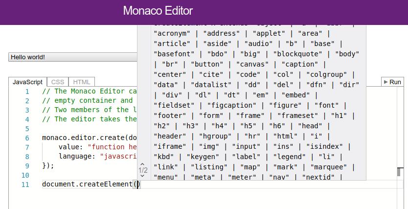 Customize widget layout area · Issue #932 · microsoft/monaco-editor