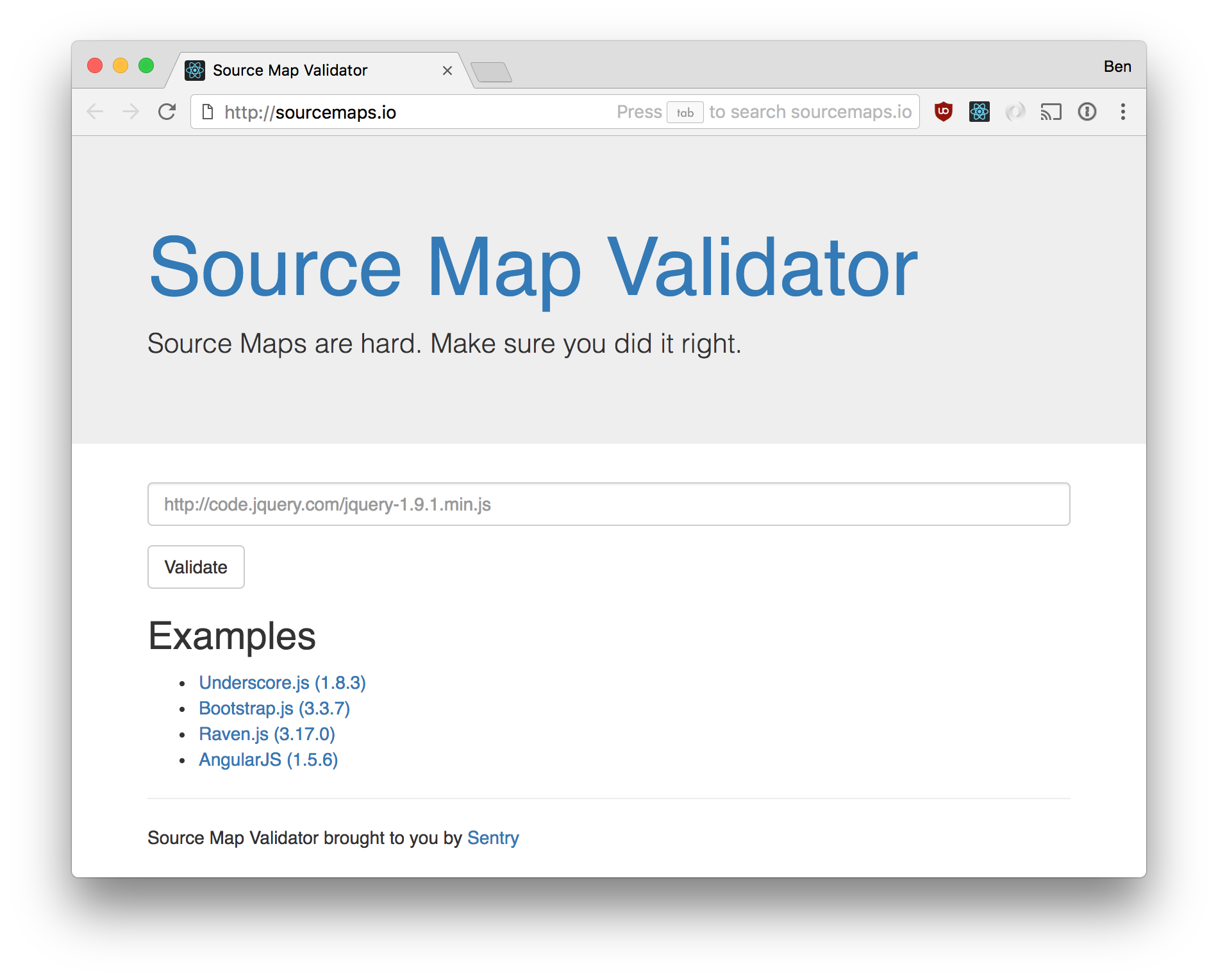 sourcemaps io/README md at master · getsentry/sourcemaps io