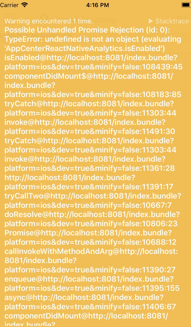 Analytics is undefined · Issue #173 · microsoft/appcenter