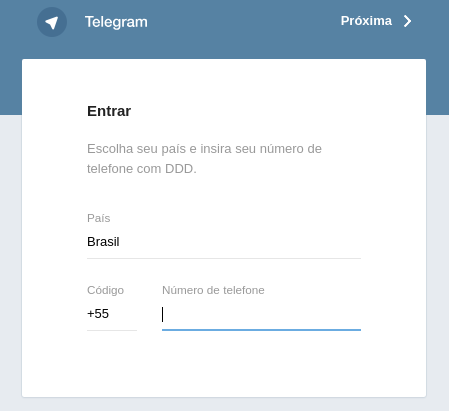 Telegram do not send SMS confirmation to enable login - HTTP 406