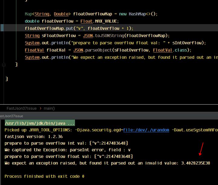 FastJson 1 2 37 error parsing overflow float value · Issue