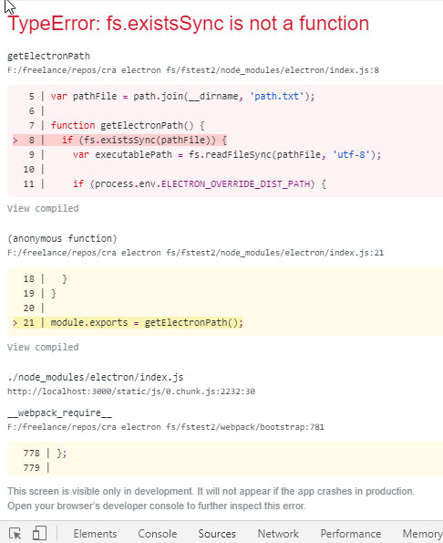 Using FS in CRA + Electron · Issue #6782 · facebook/create