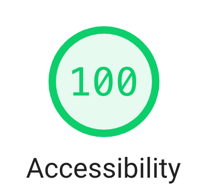 Accessibility 100%