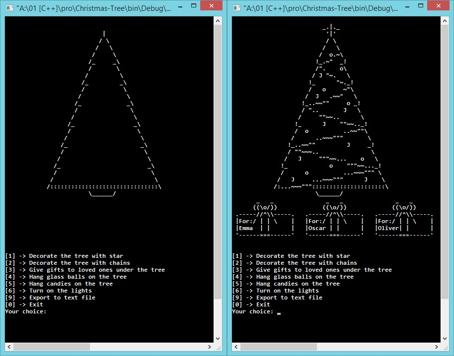 Github plkpiotr christmas tree application creating for Ascii decoration
