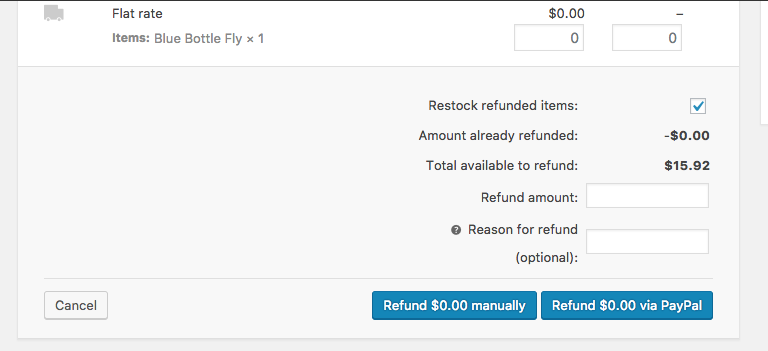 Store: Refund Button Shown for PayPal Payments with no API