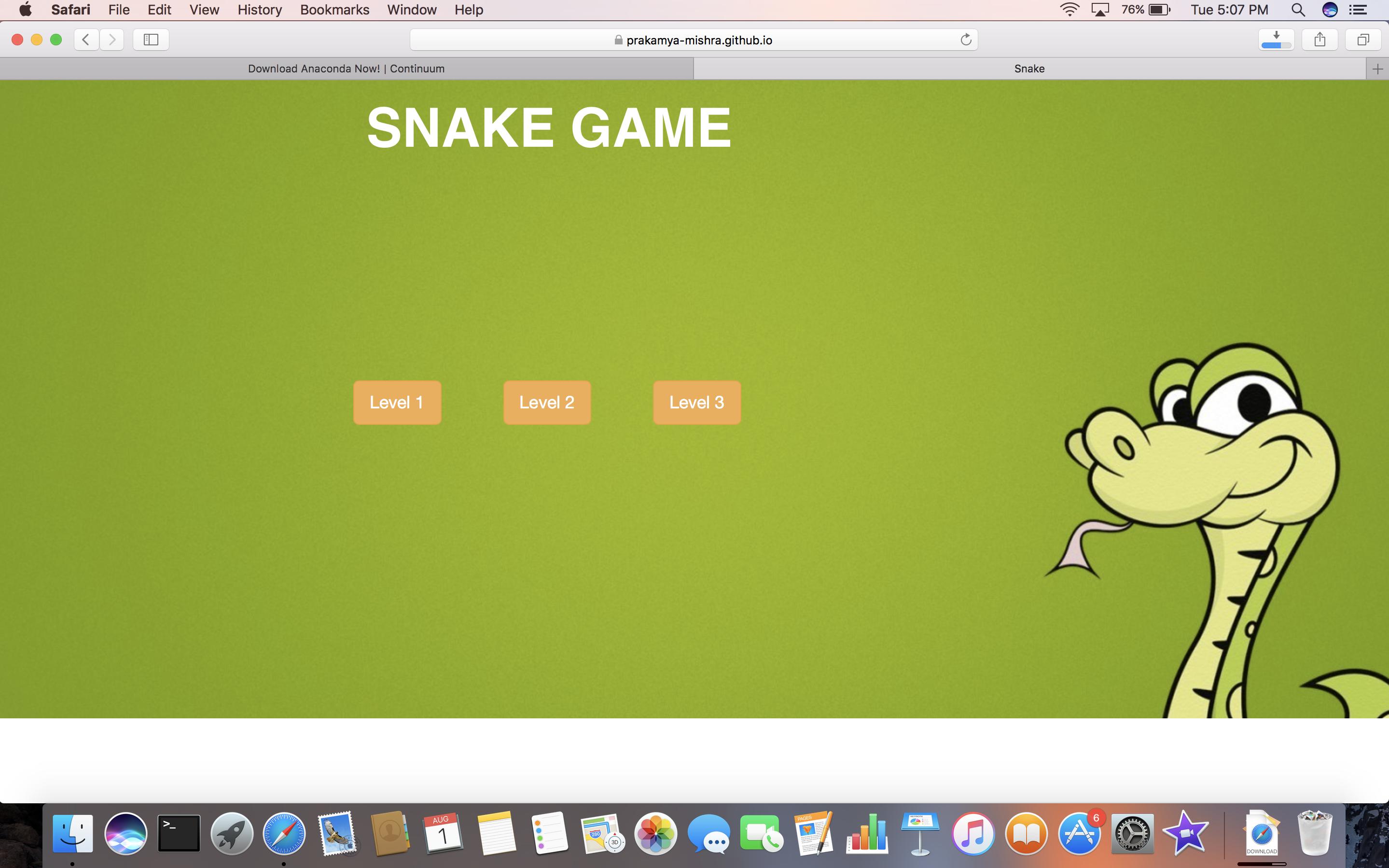 Improper Background Ui Layout In Safari Browser Issue 6 Prakamya Mishra Javascript Snake Game Github