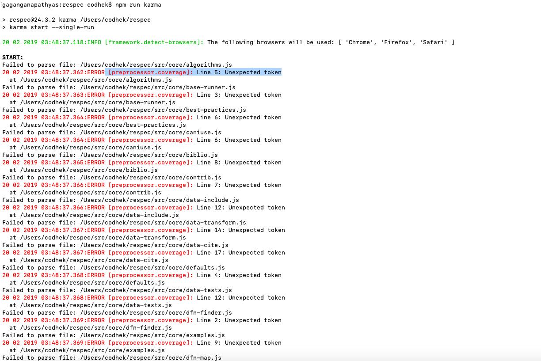 ERROR [preprocessor coverage]: Unexpected token · Issue #369 · karma