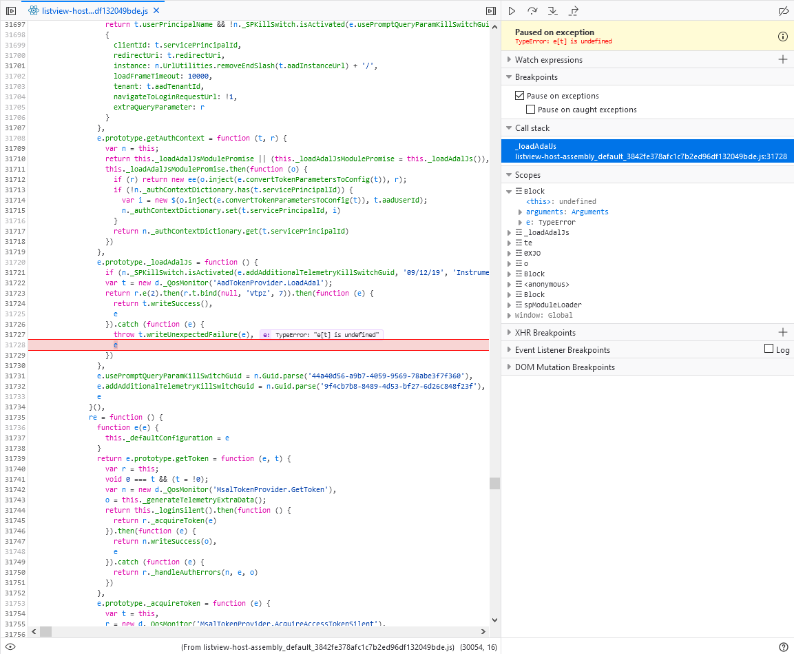 The issue with calling Azure AD secured API by using