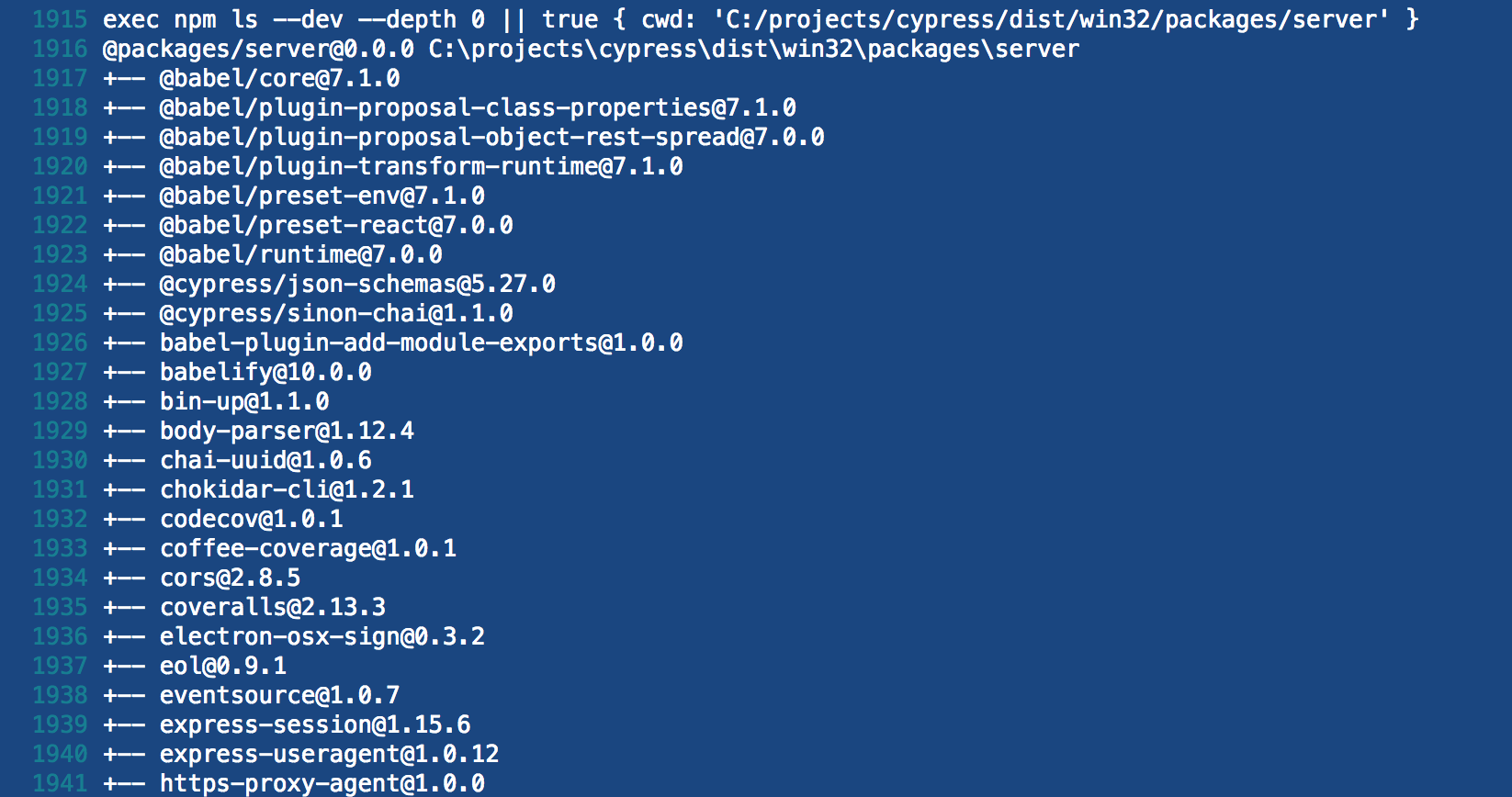 Windows binary includes devDependencies · Issue #2896