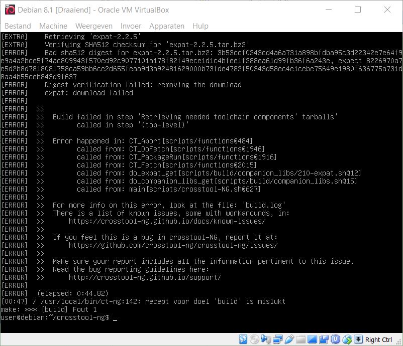 ct-ng build fails: bad sha digest · Issue #927 · crosstool