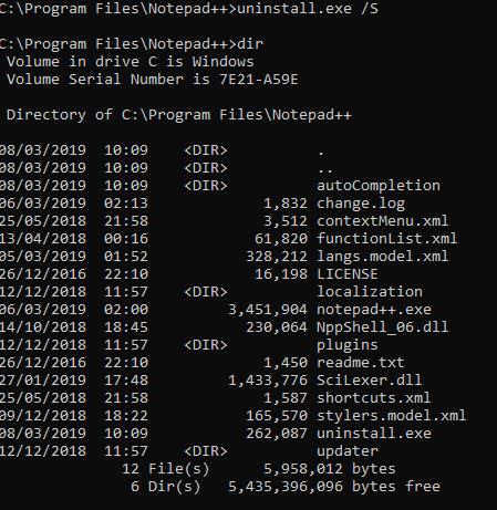 Error when running a silent install · Issue #5396 · notepad