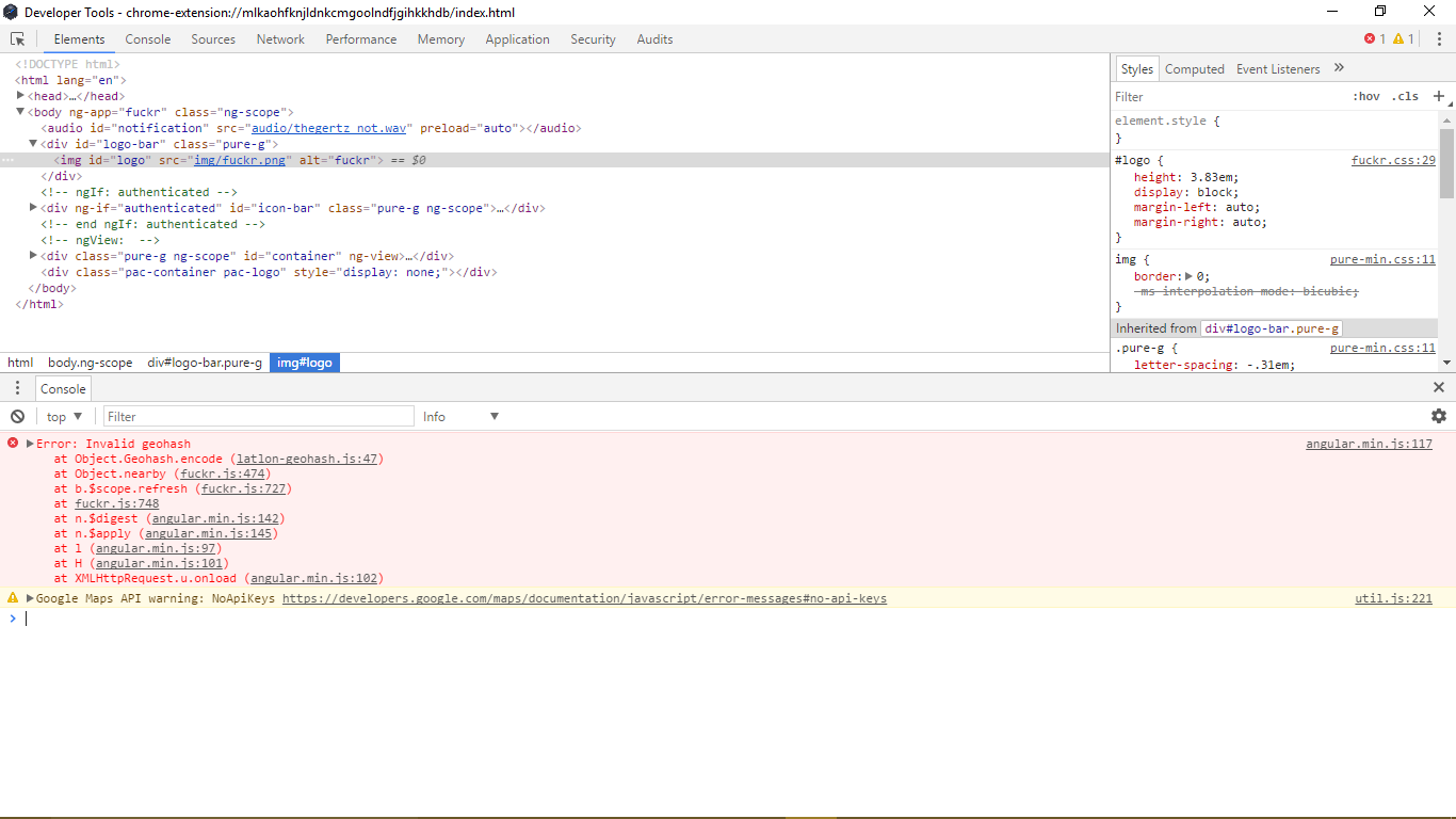 Developers - Unexpected error (HTTP 412) -