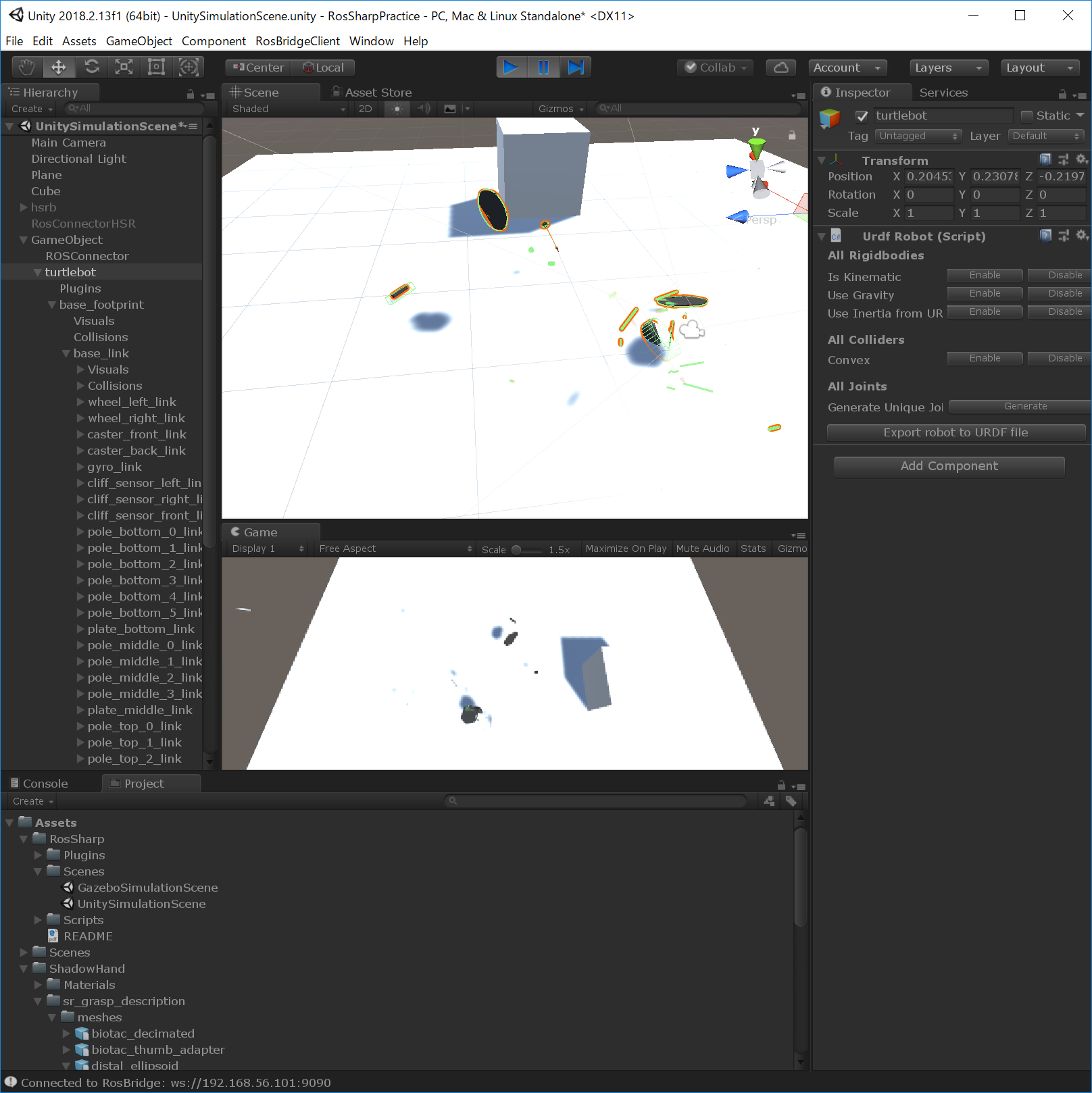 Unity model explodes · Issue #137 · siemens/ros-sharp · GitHub
