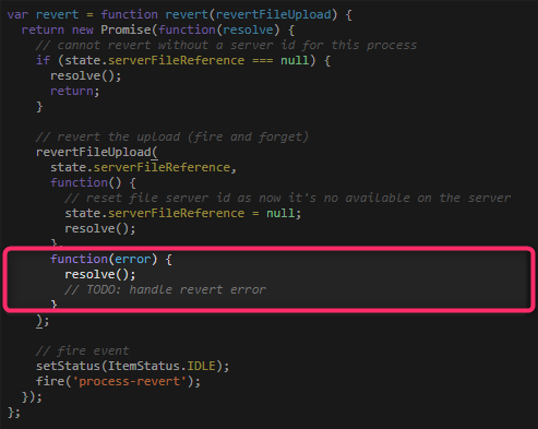 The error method is not supported in revert? · Issue #165