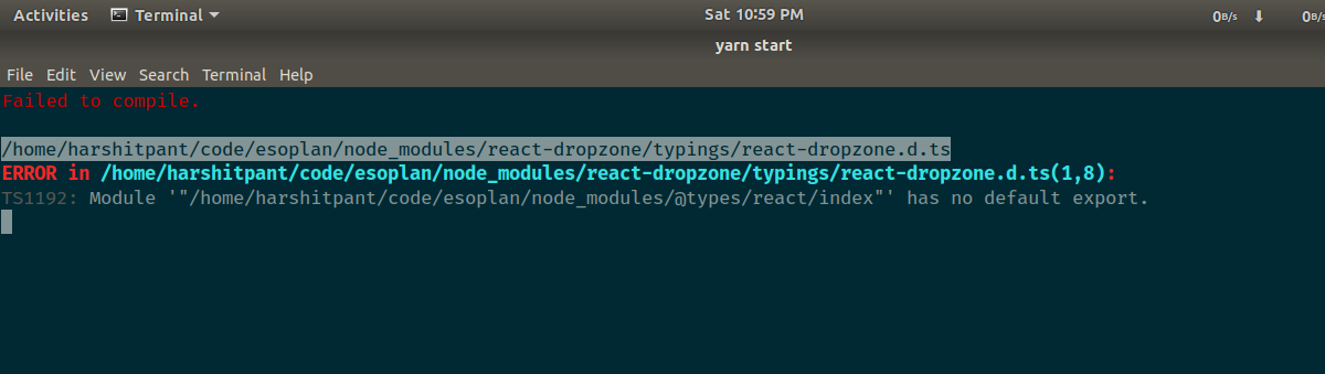 React Dropzone is broken in version 6 2 0 with typescript