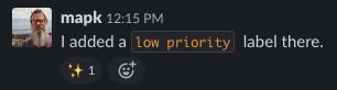 Code Used in Slack