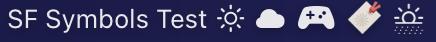 Screenshot of SF Symbols