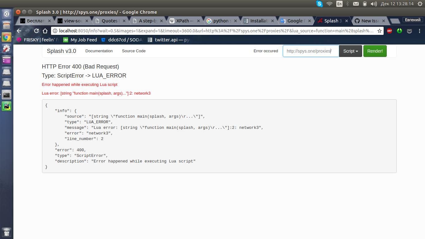 Splash doesn't load webpage · Issue #705 · scrapinghub
