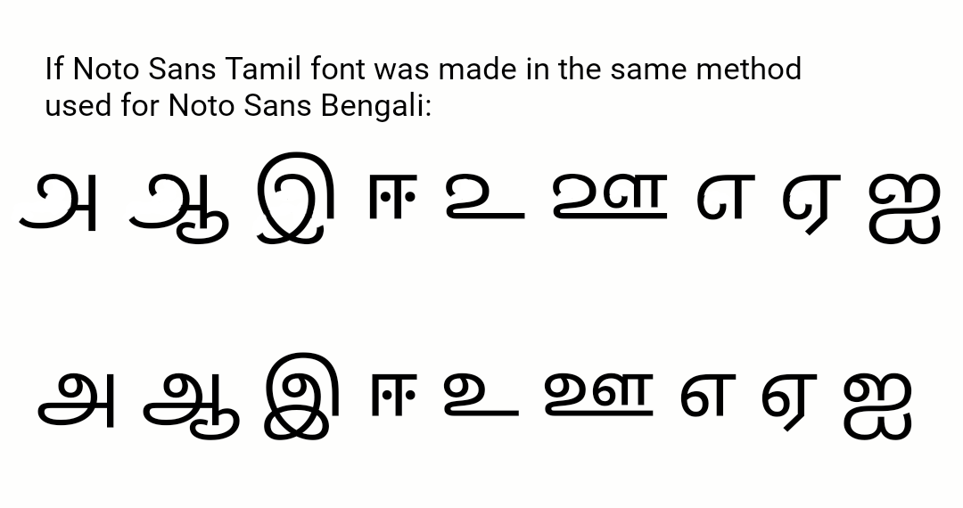 Knots are missing in Bengali font · Issue #1007