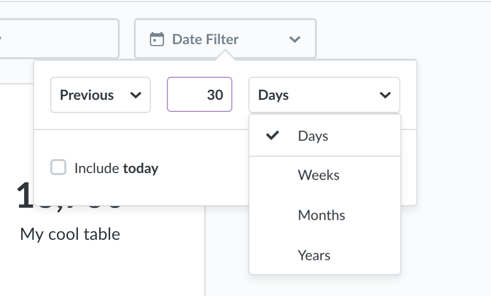 Add Hours and Minutes to dashboard time filter · Issue #6660