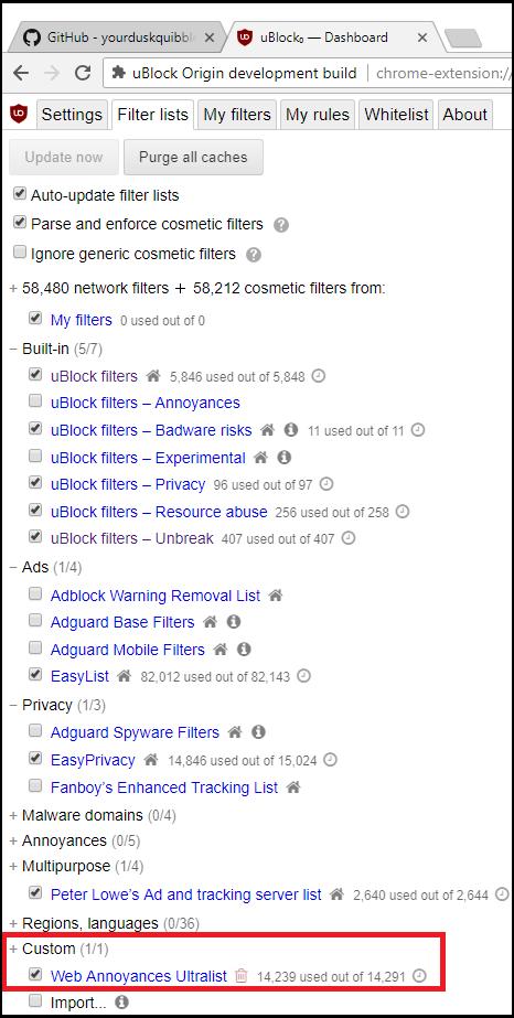 GitHub - yourduskquibbles/webannoyances: Fix and remove
