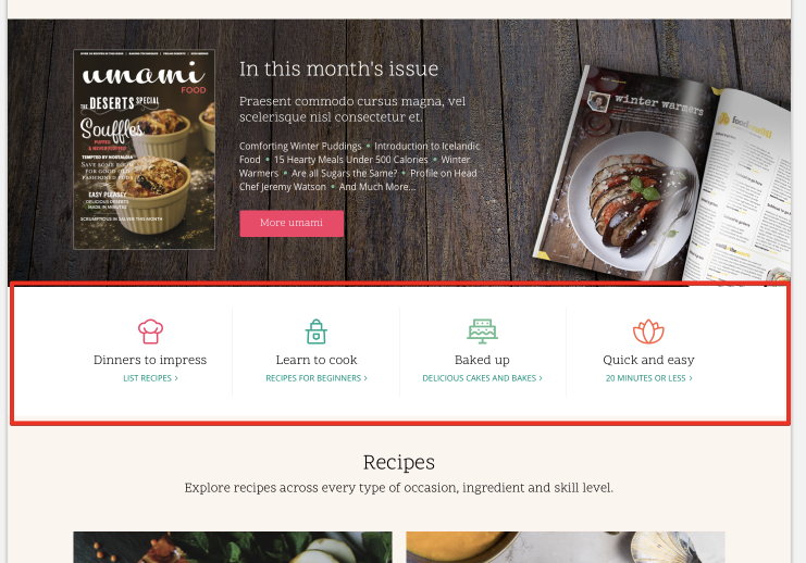 components quick links block homepage issue 112 lauriii umami