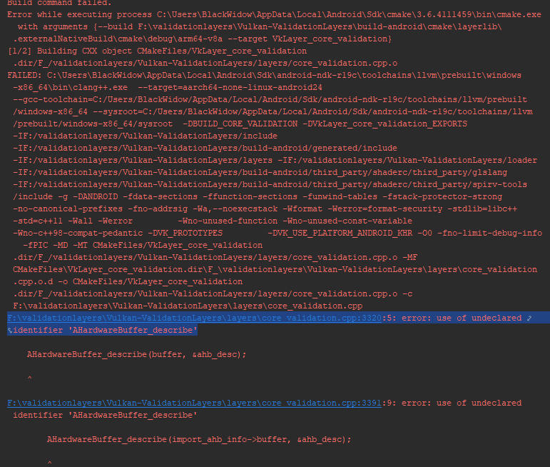 Build Validation Layers with Android CMake Plugin · Issue