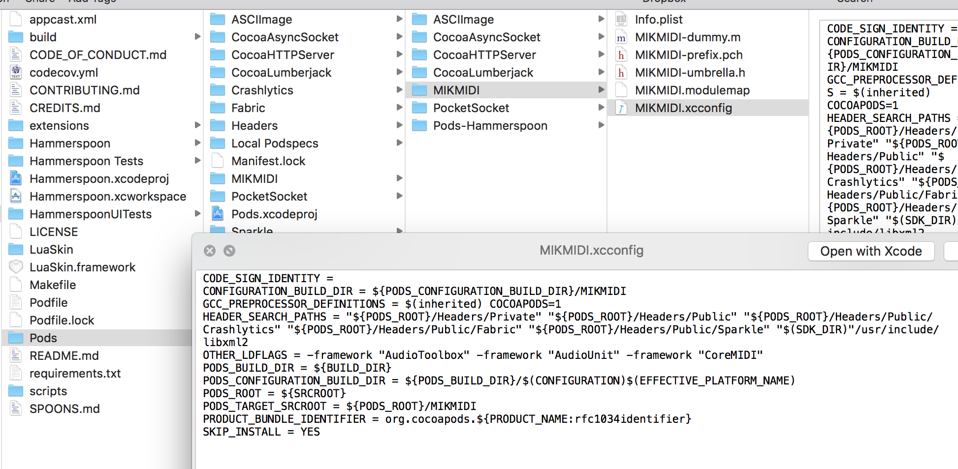 Sparkling Pod Of Snippets >> Problem With Includes When Including Mikmidi Using Cocoapods