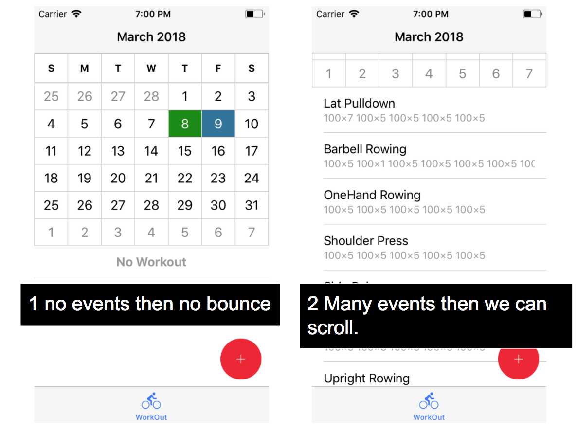 Could I prevent vertical scrolling in month view in iOS? · Issue