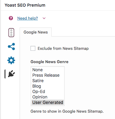 Google News Genre in meta box has no default button · Issue #391