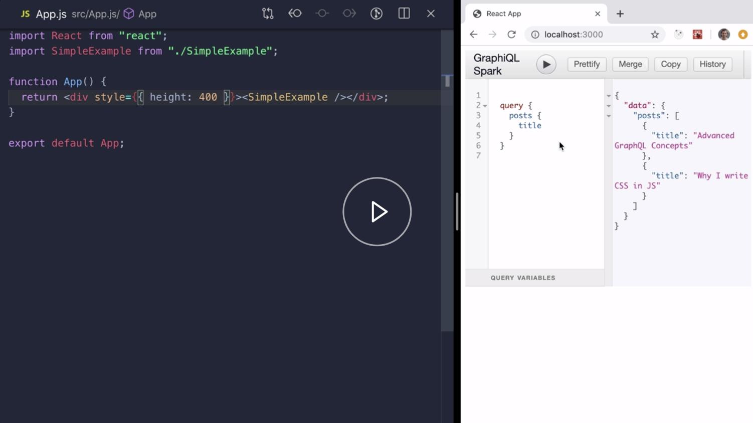 GraphiQlSpark Simple Example Demo