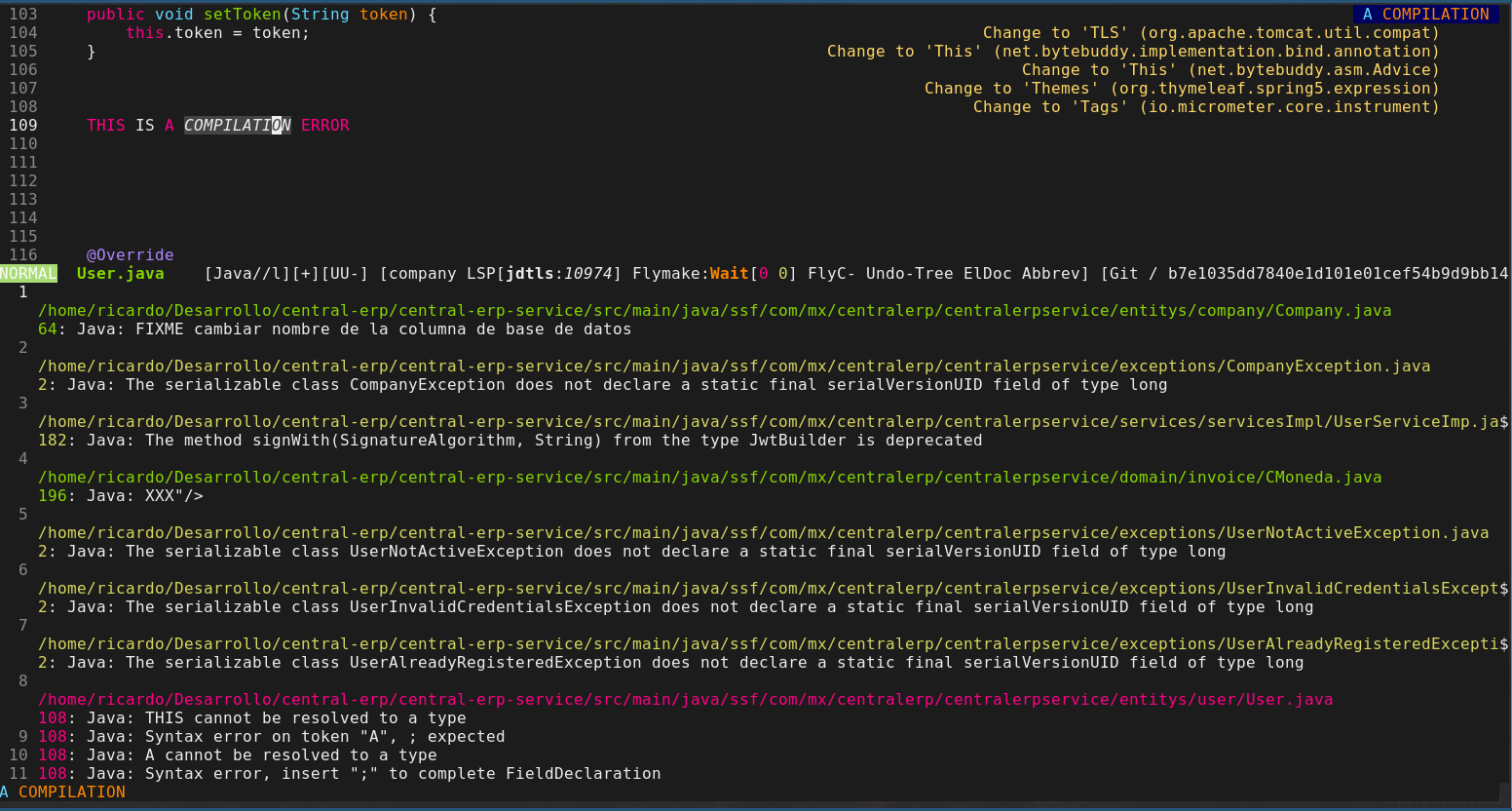 Flycheck errors not displayed when running on emacs console