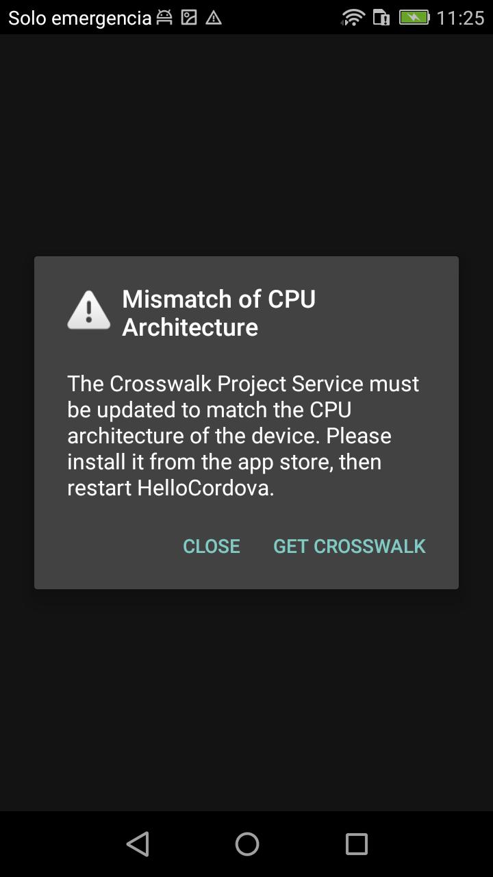 Mismatch of CPU Architecture · Issue #203 · crosswalk