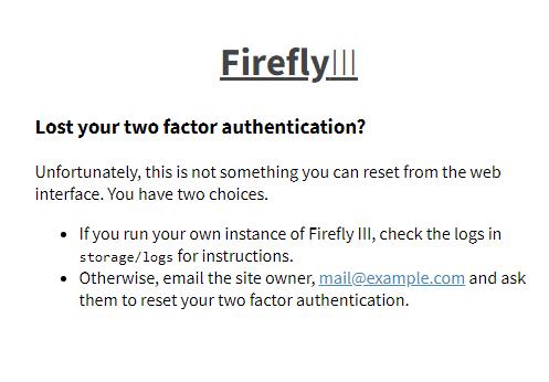 2FA backup pin code · Issue #1545 · firefly-iii/firefly-iii · GitHub