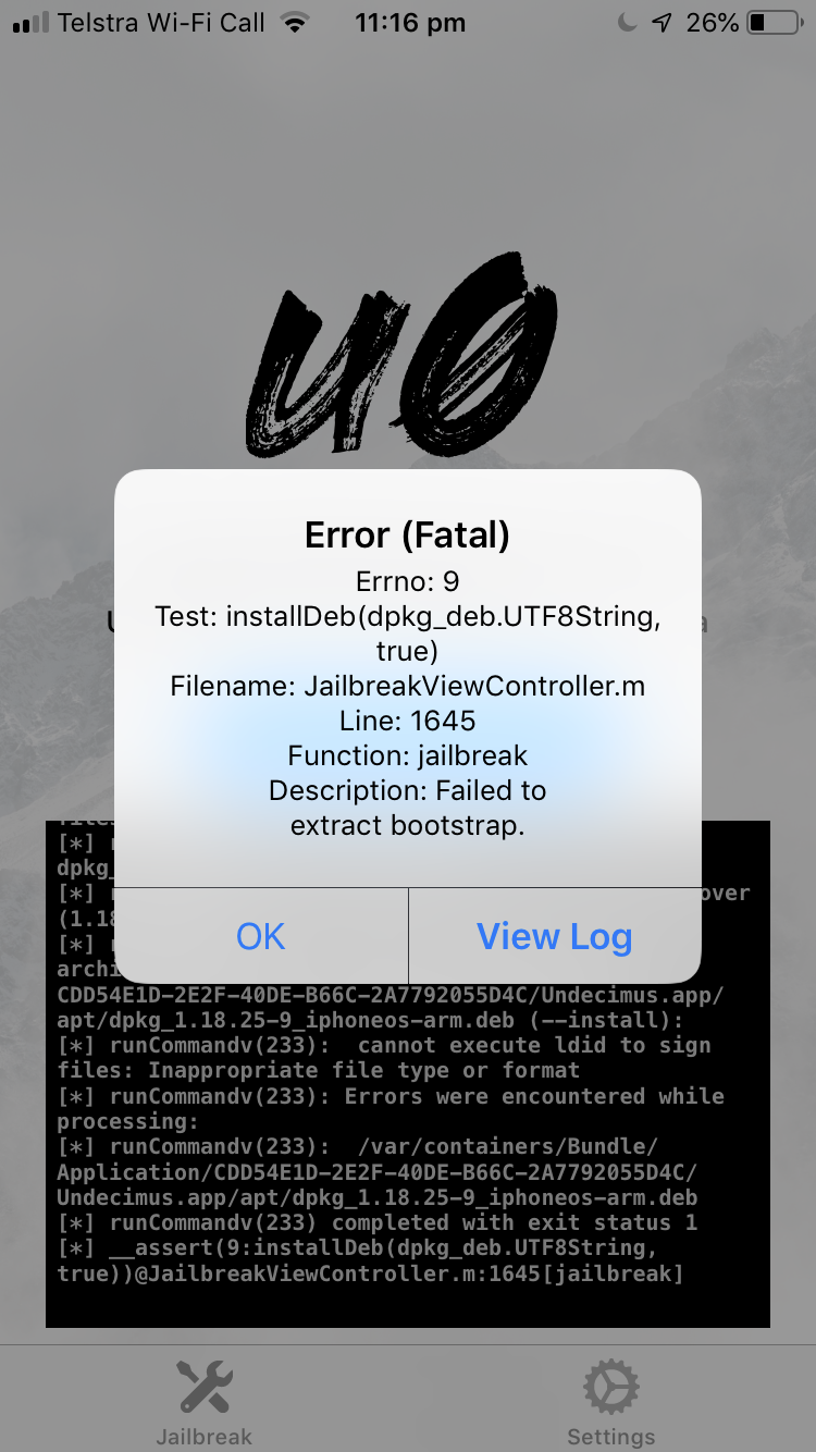 Failed to extract bootstrap: libssl1 0 conflicts with