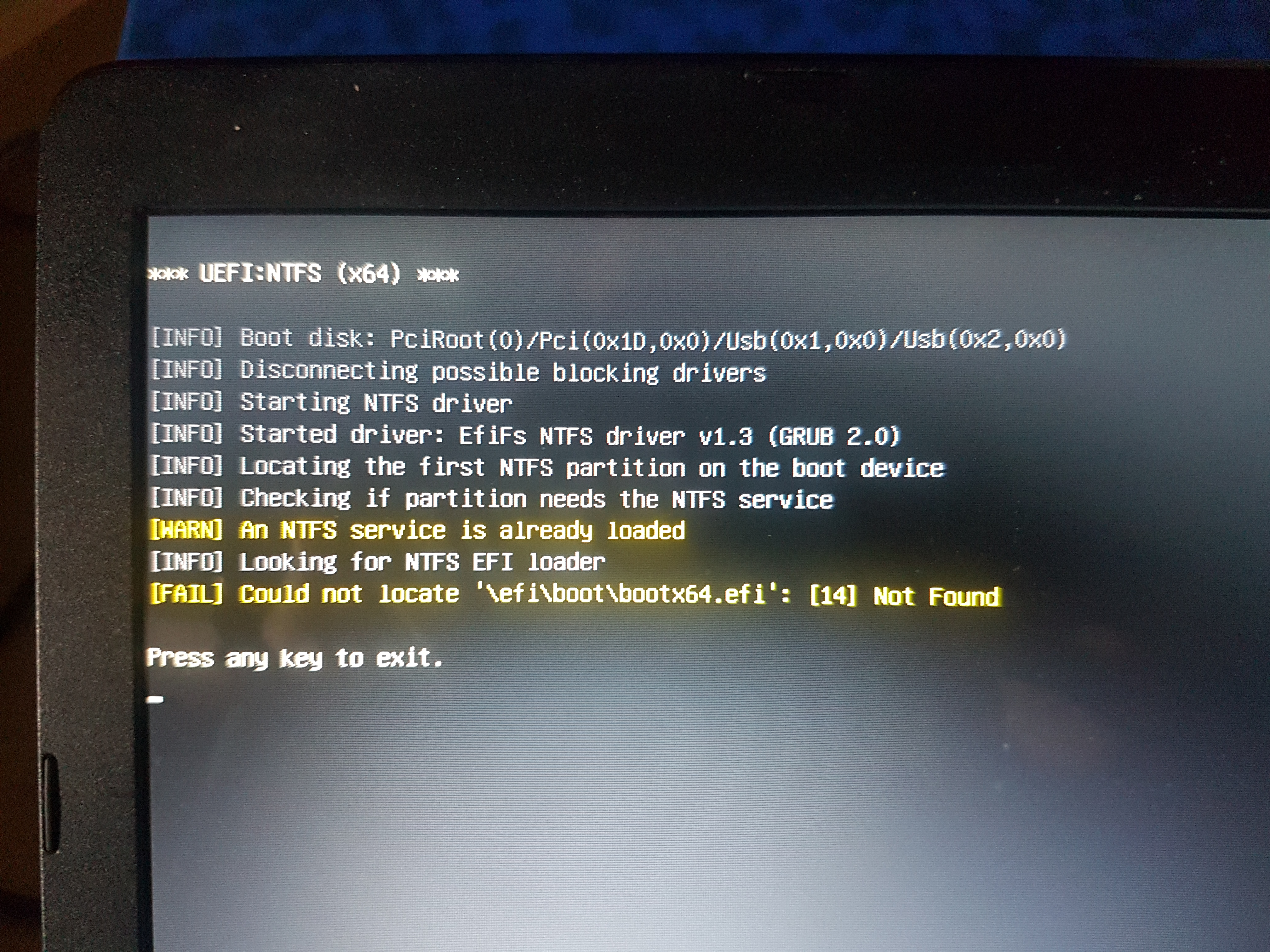 FAIL] Could not locate 'efi\boot\bootx64 efi' · Issue #1328