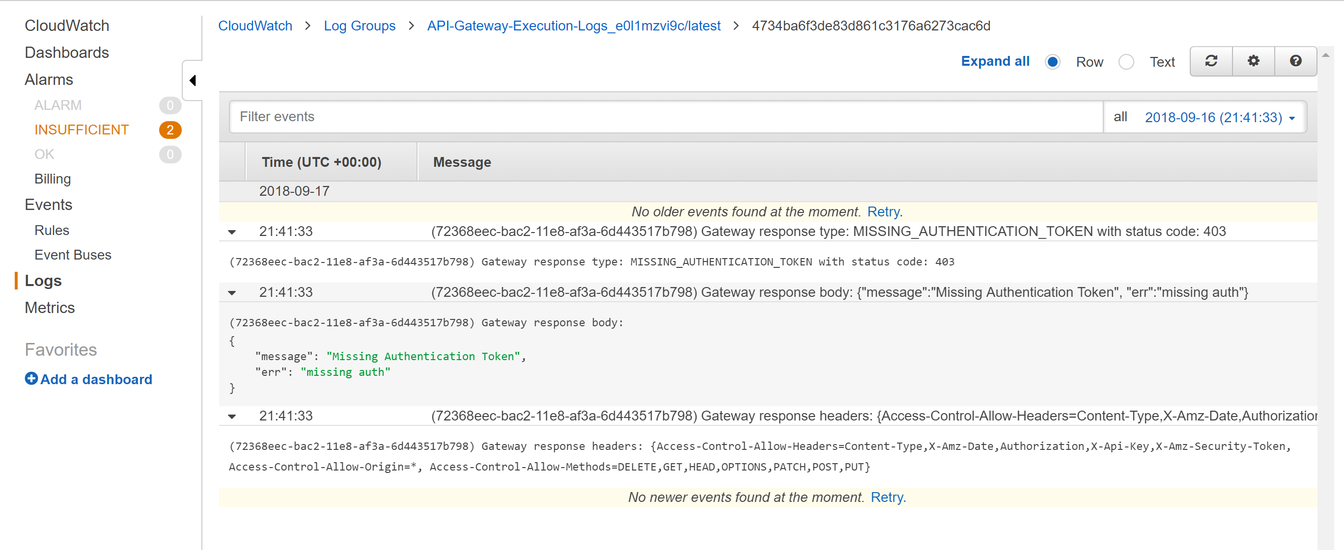 Getting 403 Error on API get() calls with Cognito Federated