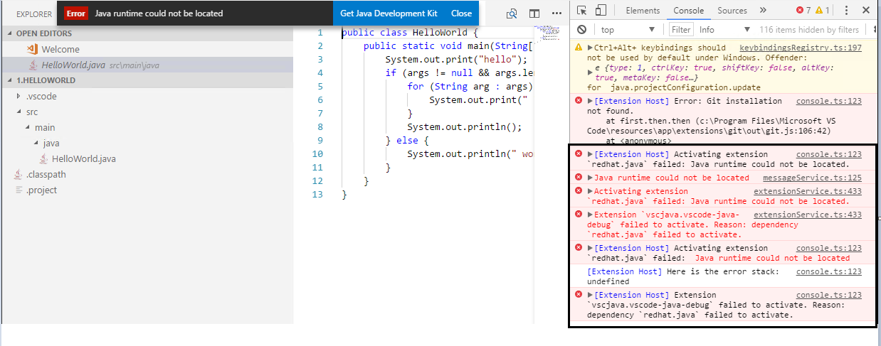 Java runtime could not be located · Issue #112 · microsoft/vscode