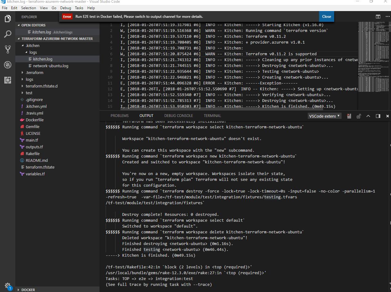 Run E2E test(local) in Docker failed · Issue #63 · Azure